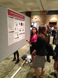 Yaoli Pu, CTSI Year Out trainee, presents her poster
